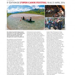 Canoë Kayak Magazine, France. 2014.