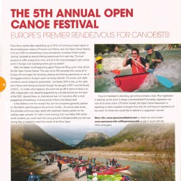Canoe Kayak Magazine, UK, 2014.