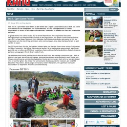 Kanu magazin (website). Germany. 2014.