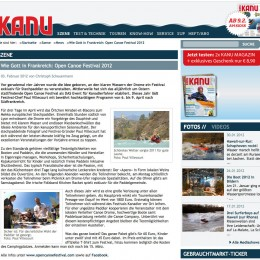 Kanu Magazin website / Germany.