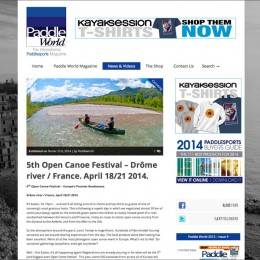 Paddle World magazine (website).2014