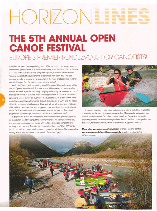 Canoe Kayak Magazine UK. 2014